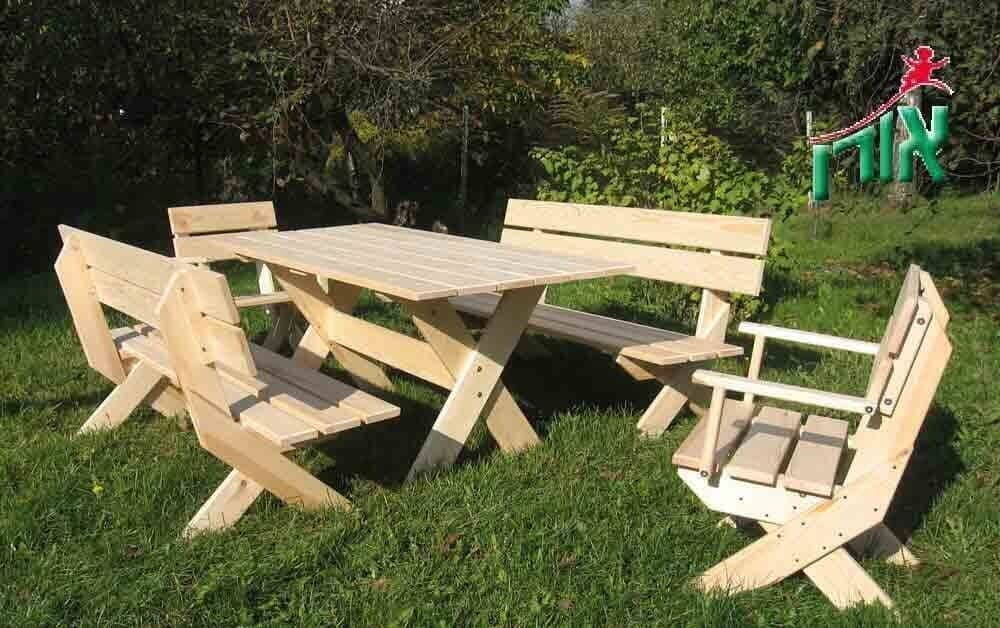 Wooden garden furniture set - 7300