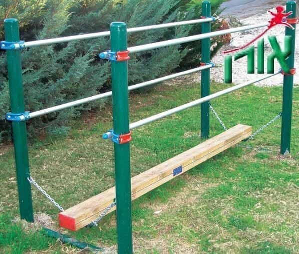 Metal and wood beam Swing set - 1424