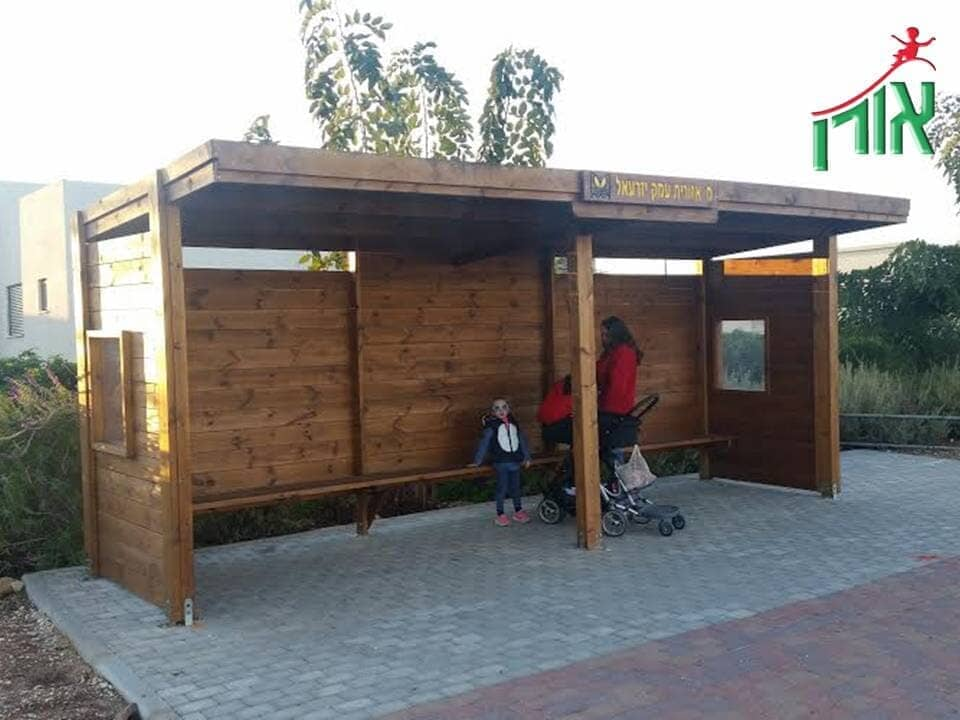 Wooden Bus Stop Shelter