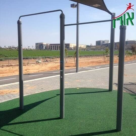 Outdoor Training Equipment - 2 heights Pull Up Bar Sports facility - 1704