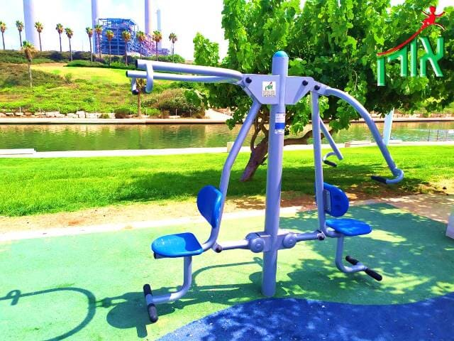 Outdoor Gym Equipment - Combined pull and push - double - 14405DL