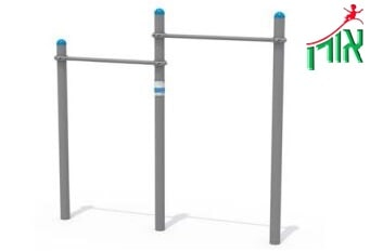 Outdoor Gym Equipment - 2 heights Pull Up Bar - 1708L