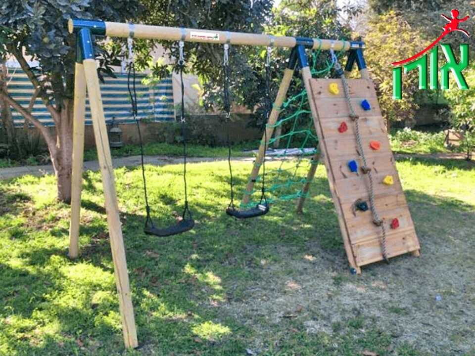 BackYard Playground Equipment - BackYard Swings Set & Climbing wall - 7152